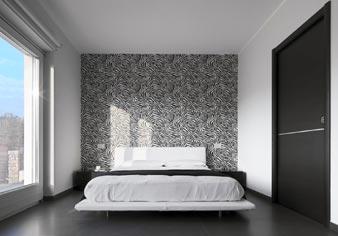Schlafen in moderner Wohnung